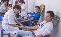 """Banyak daerah menggerakkan kampanye """"Tetesan darah kesumba"""" musim panas 2013."""