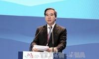 Kepala Departemen Ekonomi KS PKV Nguyen Van Binh membacakan pidato di Forum Ekonomi Internasional Ketimuran ke-3 di Federasi Rusia