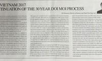 Koran Jepang memuat artikel tulisan Menteri Industri dan Perdagangan Vietnam, Tran Tuan Anh tentang  APEC 2017
