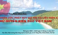 """Sarasehan ilmiah: """"Mempelajari dan mengembangkan nilai bahan dan benda tentang kedaulatan laut dan pulau Vietnam"""""""