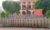 Pasukan penjaga perdamaian Vietnam mencanangkan kompetisi sebelum berangkat
