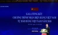 "Gala ""Kebanggaan barang Vietnam"" tahun 2018"