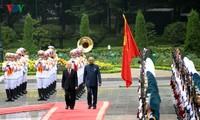 Sekjen, Presiden Nguyen Phu Trong memimpin Acara penyambutan resmi Presiden India, Ram Nath Kovind