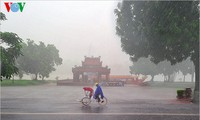 Hue imperial city in the rain