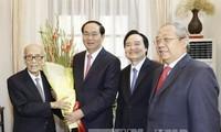 President Tran Dai Quang visit prominent academicians