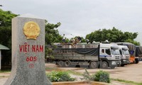 Vietnam-Lao border of peace, cooperation, and development