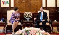 President receives Canadian, Belgian Ambassadors