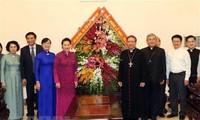 NA leader extends Christmas greetings to Ho Chi Minh City Catholics