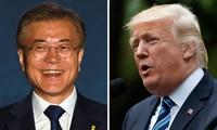 美韩领导人同意在朝鲜问题上紧密合作