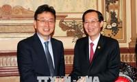 落实胡志明市与韩国庆尚北道合作协议