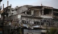第三批人道主义救援物资抵达叙利亚东古塔区