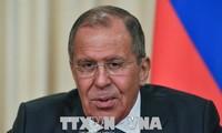 俄罗斯外长拉夫罗夫对朝鲜进行访问