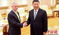 中国国家主席习近平会见美国国防部长马蒂斯