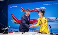 越捷廉价航空公司购买一百架波音和五十架空中客车客机