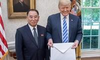 朝鲜领导人金正恩向美国总统特朗普致信