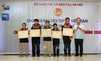河内表彰2018年国际数学和科学奥林匹克比赛获奖者
