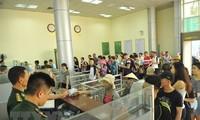 越南芒街与中国东兴国际口岸第一千万个过境人员欢迎仪式举行