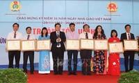 11.20越南教师节庆祝活动纷纷举行