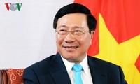 越南政府副总理兼外长范平明对德国进行访问