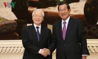 阮富仲对柬埔寨进行的访问活动