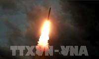 韩国对朝鲜再次发射导弹表示担忧
