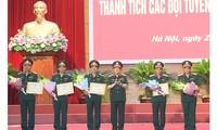 越南国防部表彰2019国际军事比赛越南参赛队