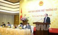 Пресс-конференция по итогам очередного февральского заседания правительства Вьетнама
