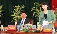 Вице-президент Данг Тхи Нгок Тхинь совершает рабочую поездку в Биньдинь