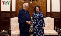 Врио президента Вьетнама Данг Тхи Нгок Тхинь приняла главу школы чайной церемонии Урасэнке