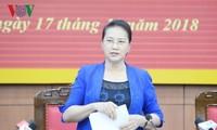 Председатель Национального собрания Вьетнама посетила провинцию Тхайбинь с рабочим визитом