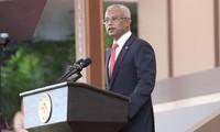 Поздравительная телеграмма в адрес президента Мальдив