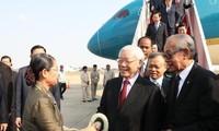 Генеральный секретарь ЦК КПВ, президент Вьетнама Нгуен Фу Чонг начал государственный визит в Камбоджу