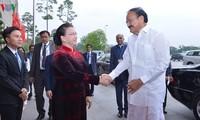 Спикер парламента Вьетнама Нгуен Тхи Ким Нган приняла вице-президента Индии