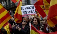Thousands march to support Spain's unity
