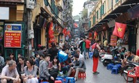 Life in the pedestrian streets of Hanoi's Old Quarter