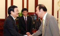 State President receives Japanese Kyoei Steel Company's leader