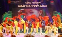 Art performance marks International Day for Mine Awareness