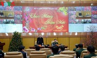 State, Government leaders extend Tet greetings to soldiers, people