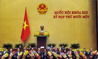 Quốc hội thông qua Nghị quyết phê chuẩn đề nghị miễn nhiệm 20 thành viên Chính phủ