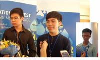 Ba sinh viên Việt Nam giành giải Nhất cuộc thi Sáng tạo thông minh về Nước