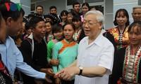 Tổng Bí thư Nguyễn Phú Trọng thăm và làm việc tại tỉnh Lai Châu