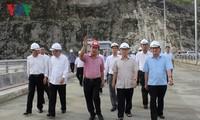 Tổng Bí thư Nguyễn Phú Trọng thăm Nhà máy thủy điện Lai Châu