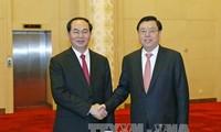 Chủ tịch nước Trần Đại Quang hội kiến các Lãnh đạo Trung Quốc