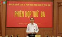 Chủ tịch nước Trần Đại Quang chủ trì Phiên họp của Ban Chỉ đạo cải cách tư pháp Trung ương