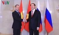 Chủ tịch nước Trần Đại Quang hội kiến Thủ tướng Liên bang Nga D.Medvedev