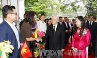 Tổng Bí thư Nguyễn Phú Trọng thăm Đại sứ quán Việt Nam và gặp gỡ bà con kiều bào tại Myanmar