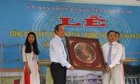 Phó Thủ tướng Trương Hòa Bình dự lễ đặt tên Trường Trung học cơ sở Nguyễn Văn Chính tại Long An