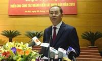 Chủ tịch nước Trần Đại Quang dự hội nghị triển khai công tác của ngành kiểm sát năm 2018