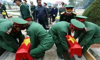 Điện Biên: Tổ chức lễ truy điệu, an táng 9 hài cốt quân tình nguyện Việt Nam hy sinh tại Lào