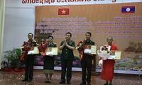"""Trao giải thưởng văn học nghệ thuật về """"Tình đoàn kết chiến đấu ba nước Việt Nam - Lào - Campuchia"""""""